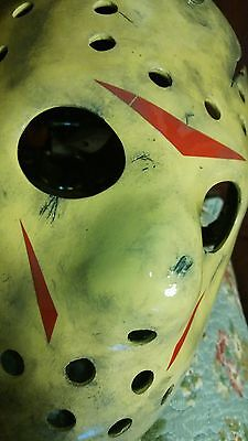 Jason Creation Station Friday 13th 8 Hockey MASK HALLOWEEN HORROR prop Replica
