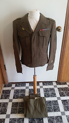 WW2 WWII U.S. Army Ike Jacket,Uniform,Pants,Wool,Patches,Dated,Military,US,Rare
