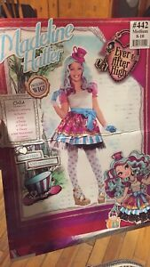 Girls Madeline Hatter Halloween Costume Sz 8-10