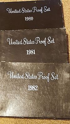 1980S US PROOF SET BOXES EMPTY NO COINS. REPLACEMENT BOXES 1980 1989