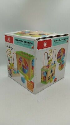 Baby Activity Cube Centers Toys Bead Maze Shape Sorter 5 in 1- New