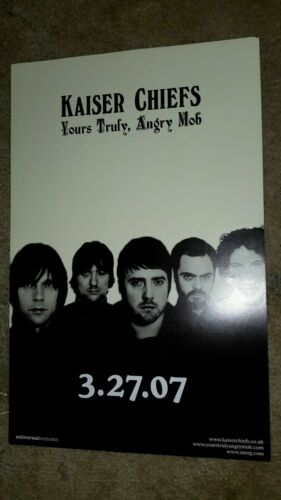 KAISER-CHIEFS-yours-truly-angry-mob-1 POSTER-2 SIDED-11X17INCHES-NMINT