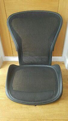 BRAND NEW Herman Miller Aeron Chair Size B Black Seat & Back Mesh Set