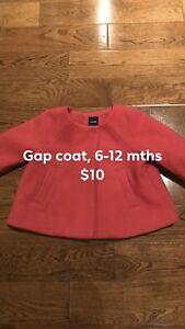 Gap coat, size 6-12 months