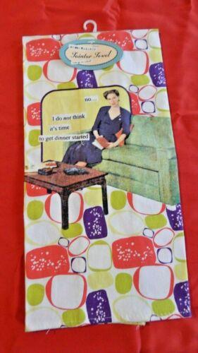 ANNE TAINTOR Modern Kitchen Revisited Kitchen Dish Tea Towel NWT