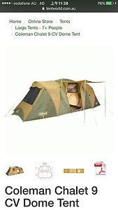 Coleman CHALET9CV tent Summer Hill Ashfield Area Preview