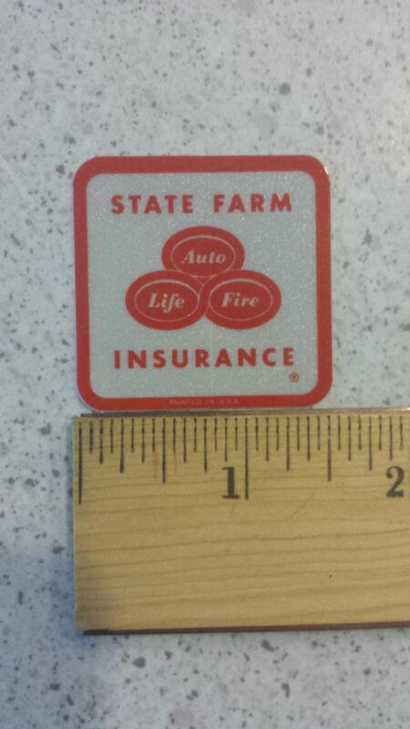 "State Farm Insurance Vintage Reflective Bumper Sticker Decal 1.5"""