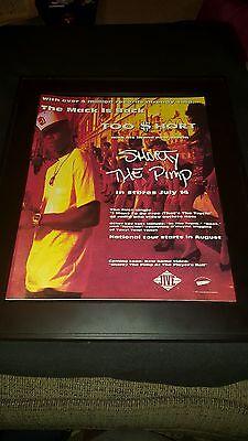Too $hort Shorty The Pimp Rare Original Promo Poster Ad Framed!