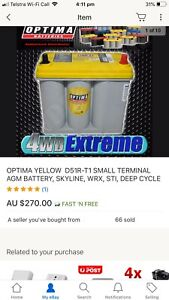 Optima yellow batery wrx skyline Brand new but doesn't fit my 180sx