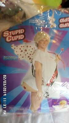 Cupid Costume Men (RARE!!! ADULT STUPID Cupid Funny Kiss Fairy LOVE Mens Womens Costume Halloween)