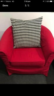 Red chair - need gone - cheap!