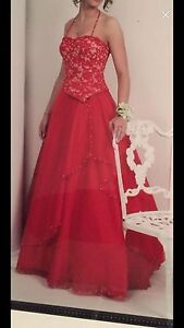 Red Alfred Angelo Grad Dress