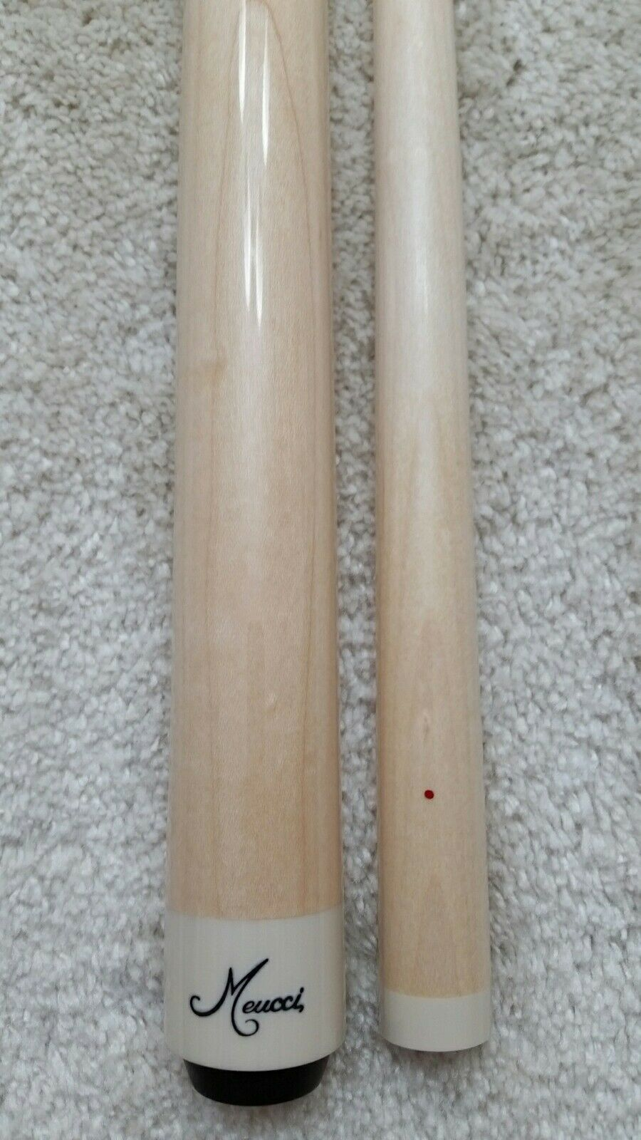 IN STOCK, Meucci Maple Wrapless Pool Cue, Red Dot Shaft,FREE