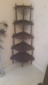 2 x matching Mahogany timber corner shelves Mona Vale Pittwater Area Preview