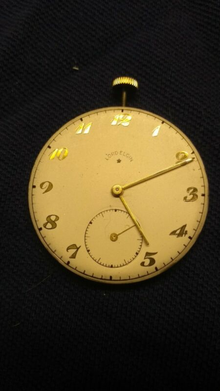 Vintage Elgin Lord Elgin 543 Pocket Watch Movement 21 Jewel with extra face