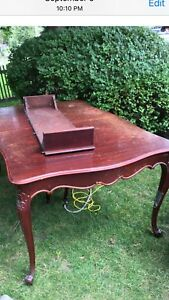 Antique Dining room table, chairs, and one chest