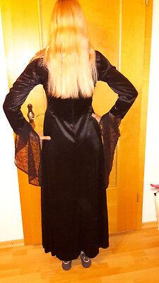 Mittelalter Gothic Kleid schwarz Samt HardLeatherStuff Gr.M neu mit Etikett (Sexy Mittelalter Kleid)