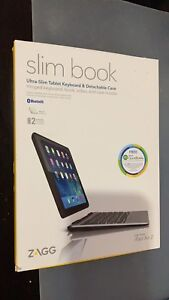 Zagg slim book case with backlit keyboard for ipad air 2