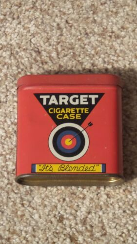 Target Pocket Tobacco Tin with (2) Rolling Paper Inserts ~NICE ONE~
