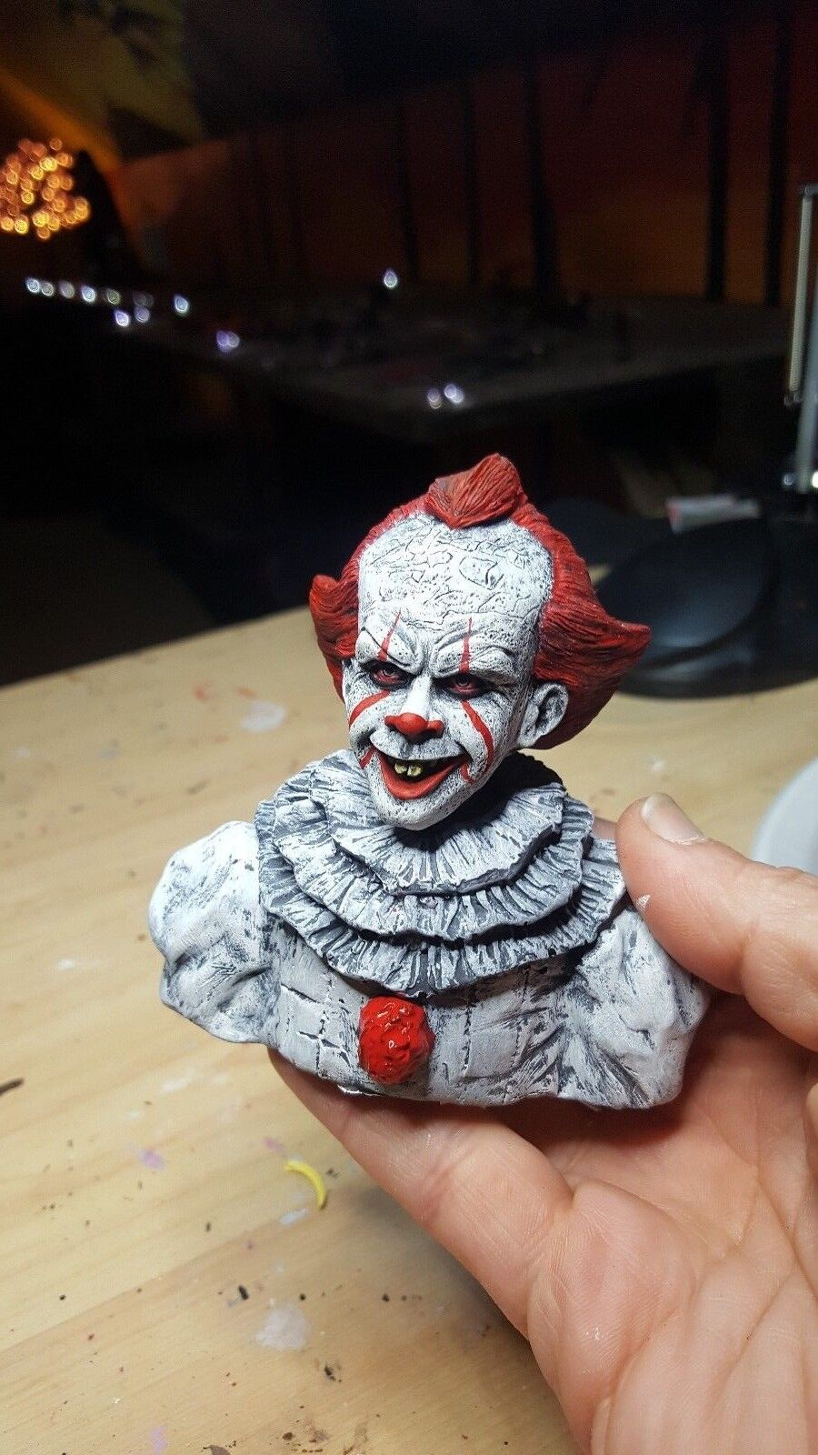 Pennywise the clown from ....<br>