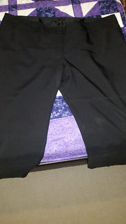 Black work pants near new