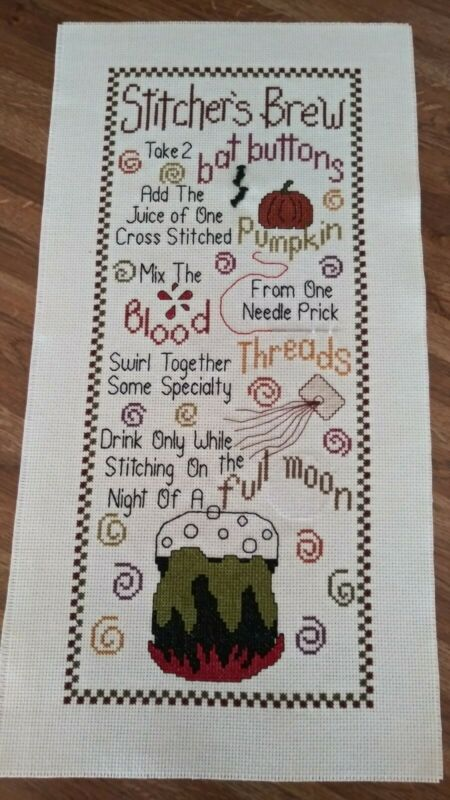 "Completed Cross Stitch "" Stitcher"
