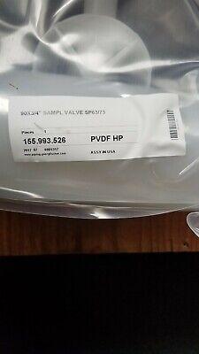 Georg Fischer 155.993.526 90 X 34 Sample Valve Sp6373 Pvdf-hp