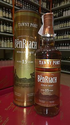 BENRIACH 15 YEARS TAWNY PORT WOOD FINISH SINGLE MALT  46% VOL  70 CL