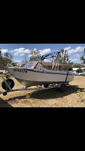 Ally Craft 5.35m Aluminium boat with 75hp Mercury
