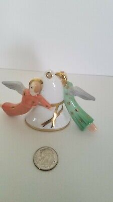 Vintage Herend Angel Christmas Ornament~Neiman Marcus Exclusive~1985. Pristine!
