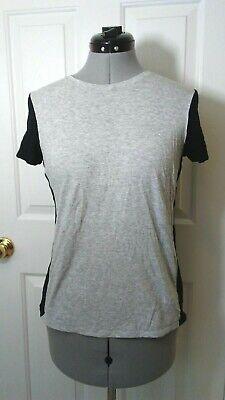 VINCE Black Gray Short Sleeve Women's T-Shirt Top Size S P22