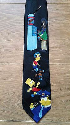 Simpsons Mens Novelty Fancy Dress Party Tie Characters Apu Bart Wiggum Millhouse
