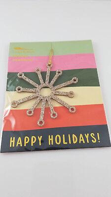 Gold Acrylic Glitter Holiday Christmas Ornament Shape Snowflake 3