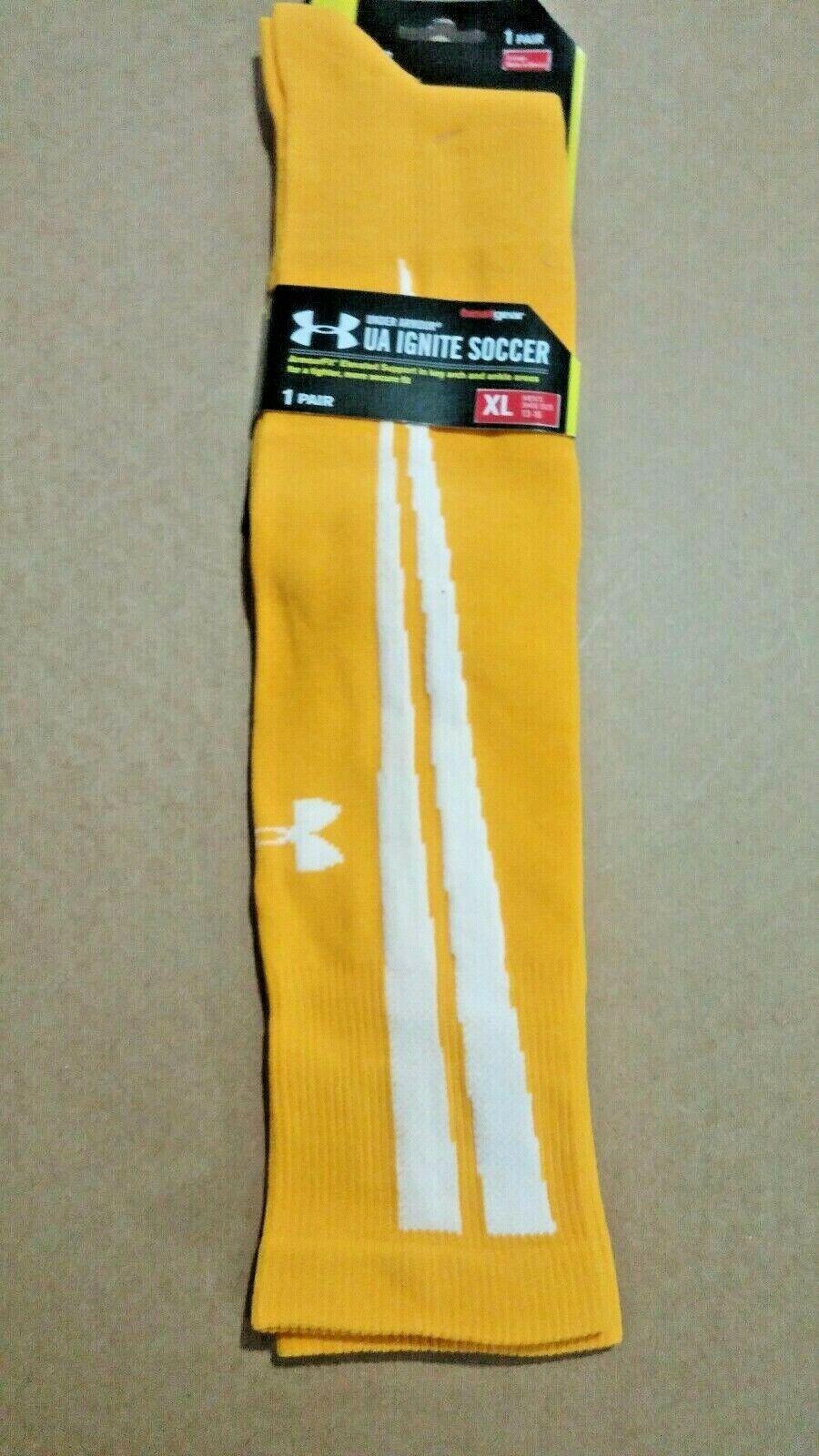 Under Armour UA Ignite Over the Calf Soccer Socks Gold 2 Pr