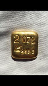 2oz extremely rare Engelhard gold bar