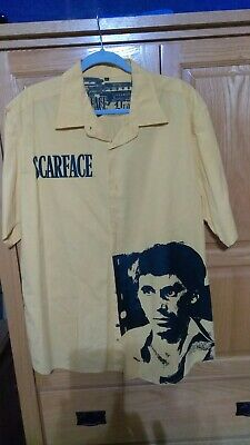 Original vintage Scarface by Dragonfly men's button-down shirt