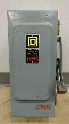 30 Amp Square D Heavy Duty Safety Switch 600v Ac Or Dc Cat. Hu361awk Series E1