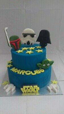 Large Star Wars Set  Personalised Edible Cake Toppers Unofficial