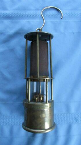Brass Friemann & Wolf Davy Style Unusual Three Burner Safety Lamp-Mining Lamp