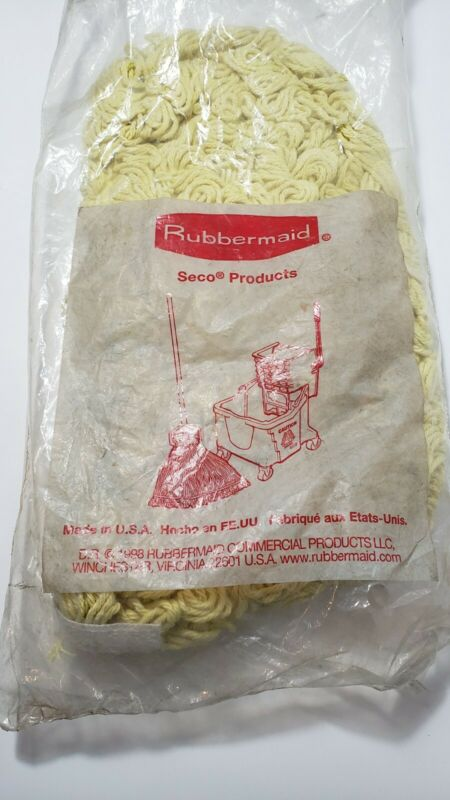 """Rubbermaid Trapper Dust Mop,Looped-end,Launderable, 5"""" x 12"""",Yellow, U12000YL00"""