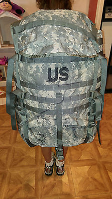 ARMY ACU DIGITAL MOLLE II LARGE RUCK SACK FIELD PACK COMPLETE W/ FRAME