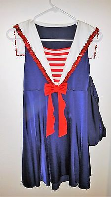 Sailor Outfit for Dance Costume Included bloomers Womens AM Medium](Sailor Outfit For Woman)