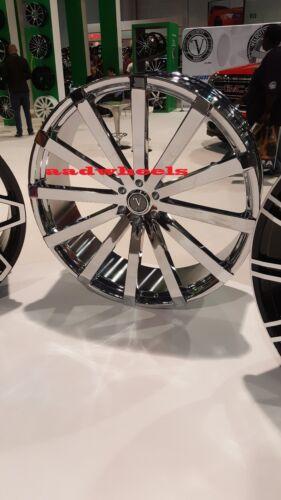 26 Inch Velocity V12 Wheels Rims & Tires fit 6 X 139 Silverado, Avalanche, Tahoe