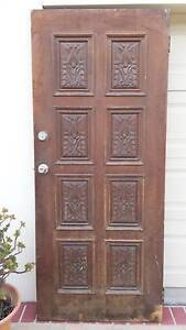 CARVED ENTRY DOOR, SOLID! Greenslopes Brisbane South West Preview