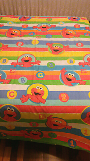 Sesame Street single bed quilt cover  (double sided)