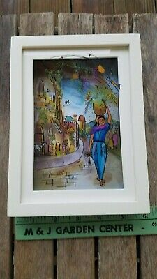 """Jean Pierre Weill 3D Painting On Glass Framed Box """"Ruth"""" Retired"""