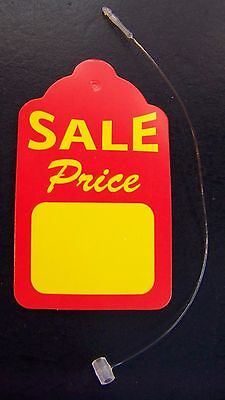 200 Merchandise Strung Price Sale Display Tags 1 58 X 2 34 Free Fasteners