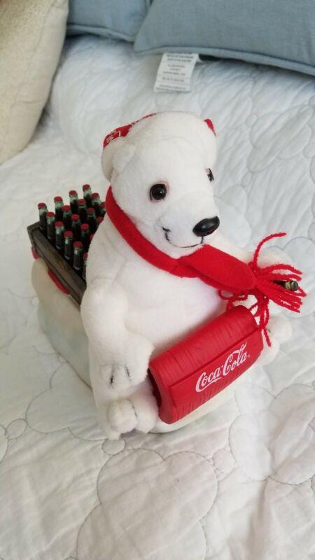 Coca Cola Bear Plush Piggy Bank