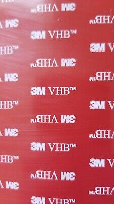"""3M VHB 5952 Double Sided Tape Sheets 6.5"""" x 10.75"""""""
