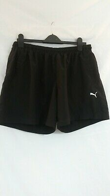 Puma Men's Black Mesh Lined Leisure Shorts. Large 34-36. Used. Good Condition.
